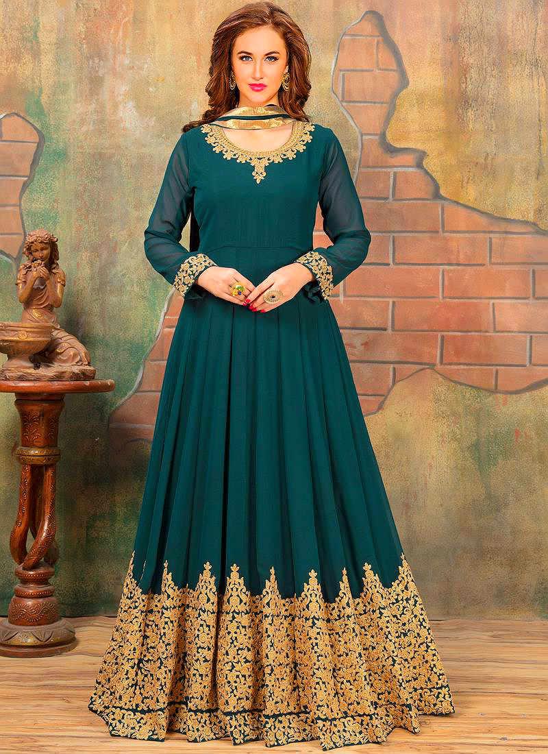 Красивые платья в индийском стиле — достойные богинь, фото № 21