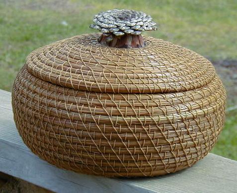 Плетение из сосновых игл мастер класс
