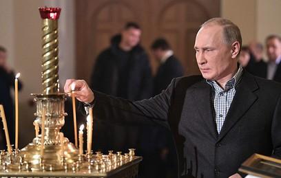 Путин поздравил православных христиан с Рождеством