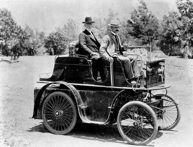 Первый автомобиль в Лос-Анджелесе, США, 1897 год. история, люди, мир, фото