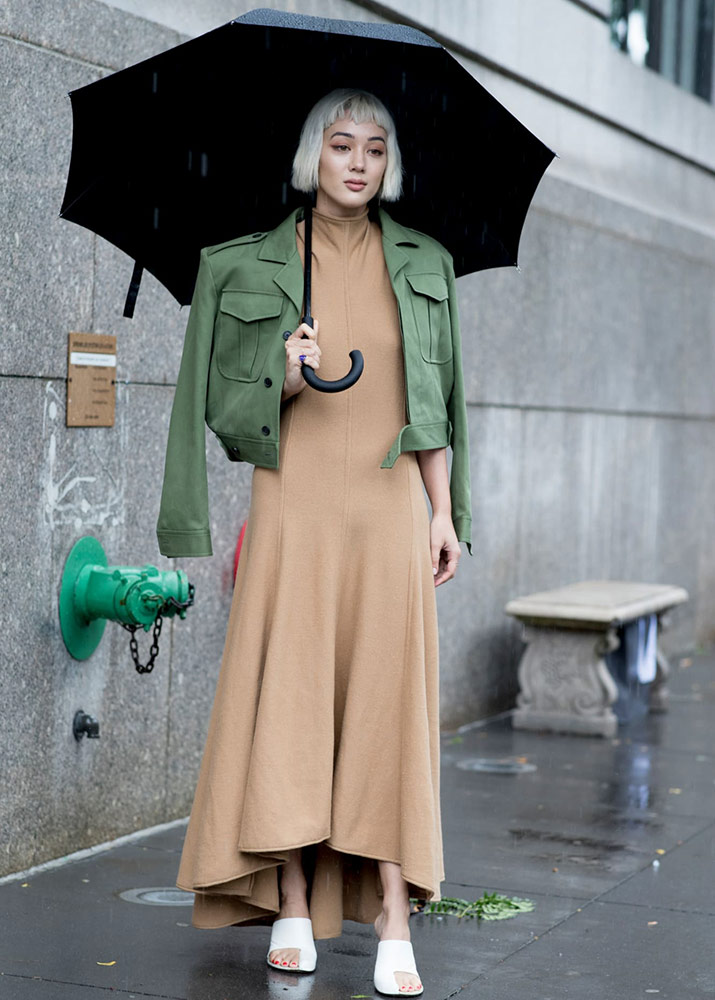 Уличный стиль — лучшие платья гостей с Недели моды в Нью-Йорке