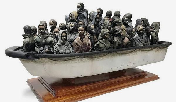 Счастливчик может заполучить скульптуру Бэнкси всего за 2,55$