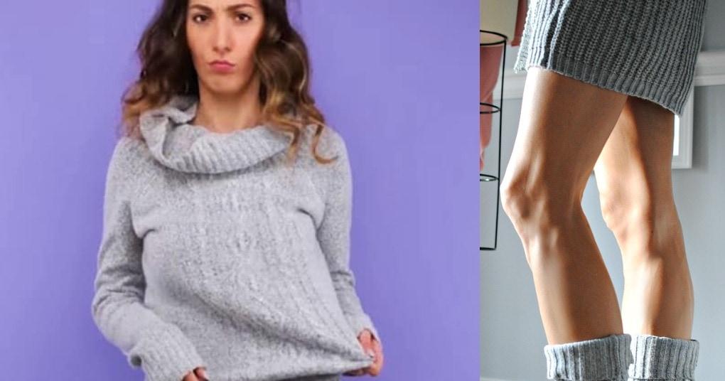 Уютная и практичная вещь из старого свитера