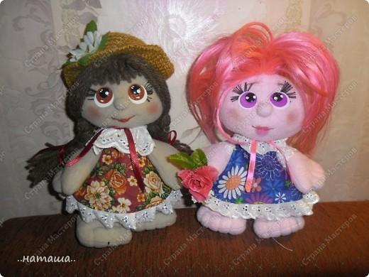 Игрушка, Куклы Шитьё: Куклята Пряжа, Пуговицы, Ткань. Фото 17