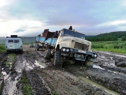 Зверская мощь легендарного грузовика КРАЗ 6x6 чудо советского машиностроения siberia monster truck