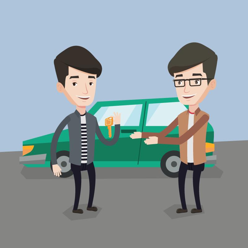 Анекдот про двух приятелей, ставших хозяевами автомобилей