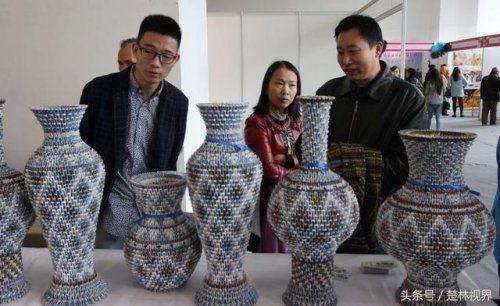 Китайские вазы из игральных карт