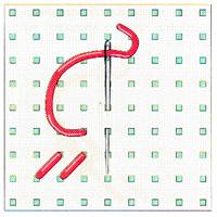 Вышивка крестиком по диагонали. Двойная диагональ слева направо (фото 3)