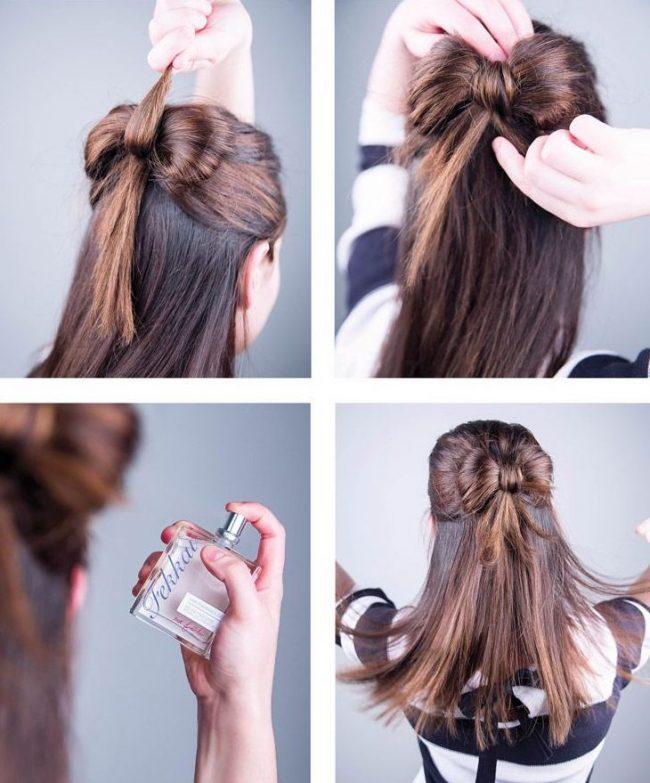 Как из волос сделать волосы на заколках 215