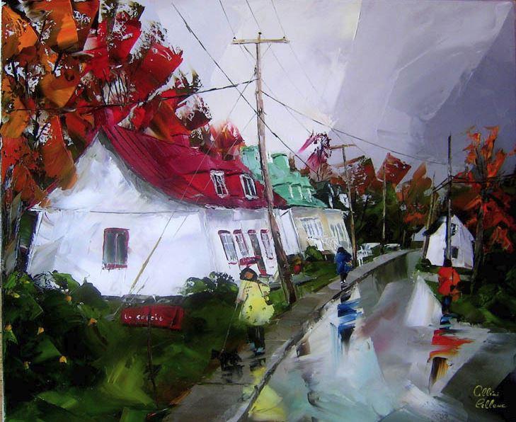 Канадский художник Albini Leblanc. Миниатюры мастихином. Девятая
