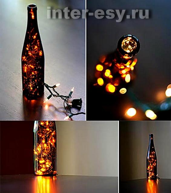 Светодиодный светильник из бутылки своими руками
