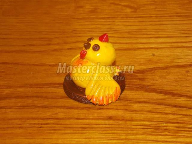 Цыпленок из солёного теста