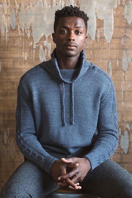 Красивый мужской свитер (описание вязания)