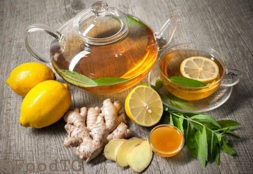 Имбирный чай.  Имбирь — кладезь витаминов.