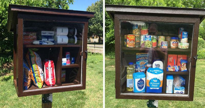 Американка придумала маленькие бесплатные кладовые, чтобы помочь нуждающимся