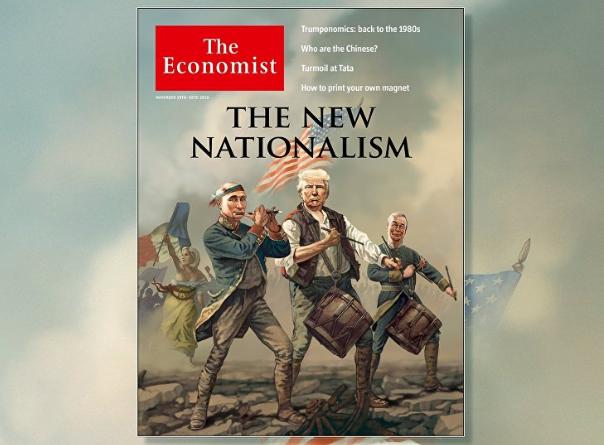 Британский Economist поместил на обложку карикатуру на Путина, Трампа и Ле Пен