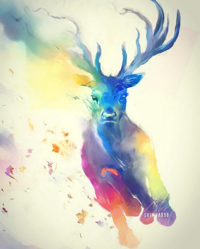 Цифровые иллюстрации животных shimhaq98