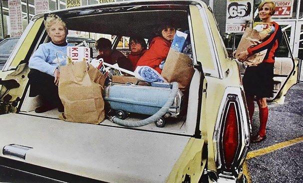 8. 60-е годы, автомобили, легковой автомобиль, старые машины, старые фото, сша, универсал, фургон
