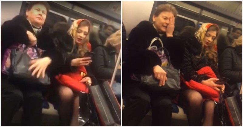 Над тобой все ржут, а мной все восхищаются! Богиня метрополитена спорит с простой смертной богиня, видео, метро, россия, спор, треш, чудаки
