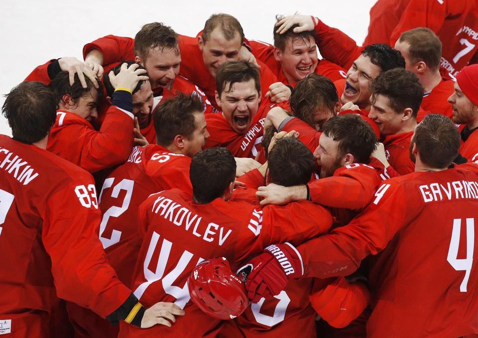 Российские хоккеисты впервые…