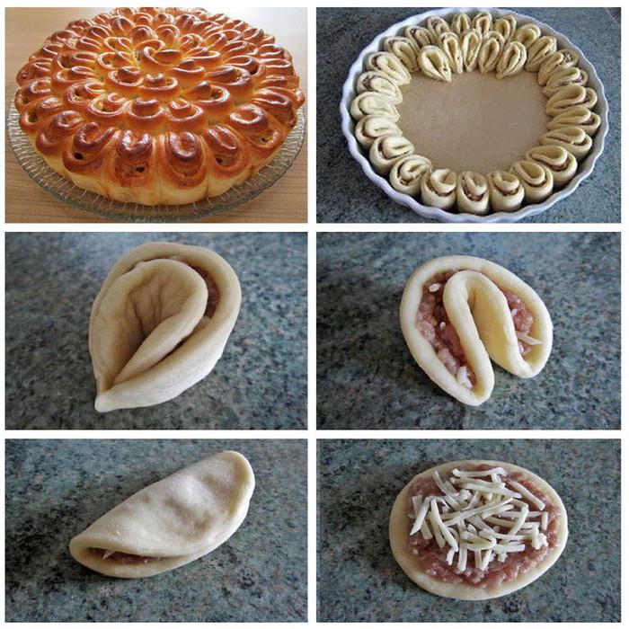 Мясной пирог из слоеного дрожжевого теста рецепт