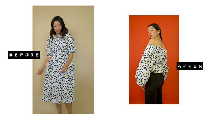 Блузка из платья (DiY)