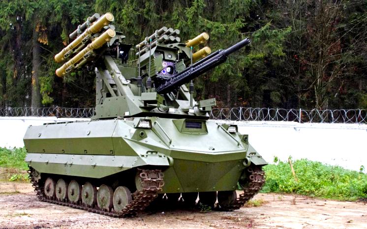 На что способен боевой робот «Уран-9»