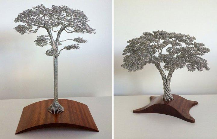 скульптуры деревьев из проволоки клайв мэдиссон (8)