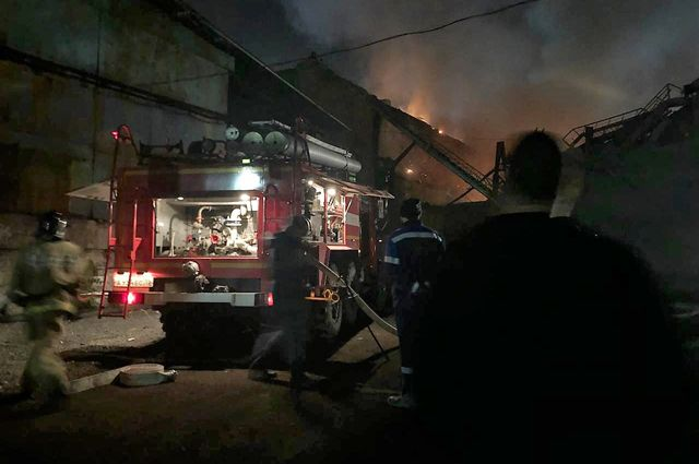 Пожар на владикавказском заводе «Электроцинк»