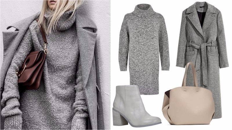 Модный серый — как выглядеть яркой и стильной в сером этой осенью