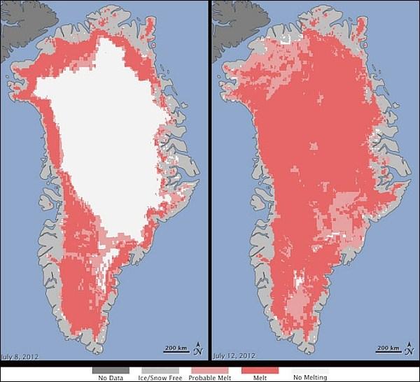 В Гренландии зафиксировано небывалое таяние