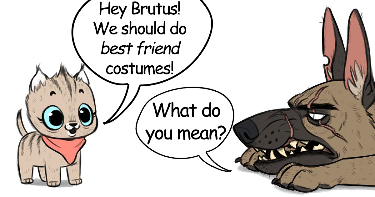 There's A New Hilariously Adorable Comic About Brutus & Pixie That Will Instantly Make Your Day