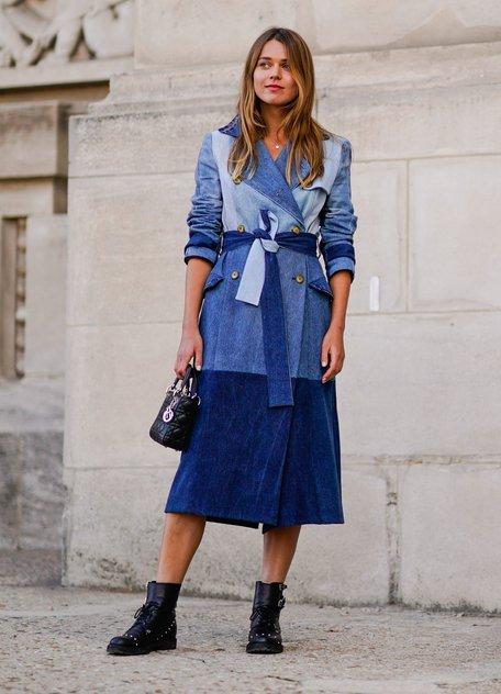 4 стильные идеи для джинсового платья на лето 2018