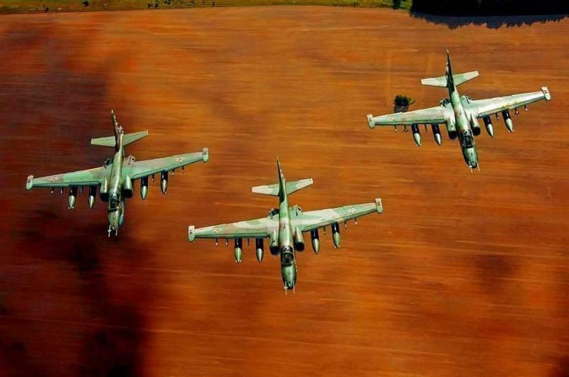Боевики попали под бомбы российских штурмовых «Грачей»