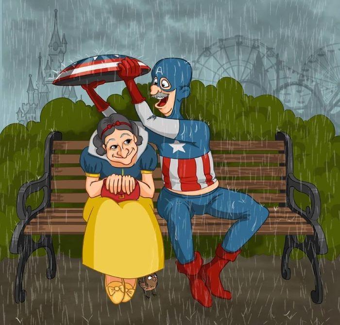 Белоснежка и Капитан Америка. Автор: Леся Гусева.