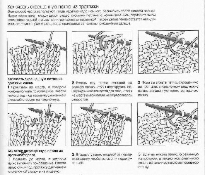 Как связать протяжку спицами