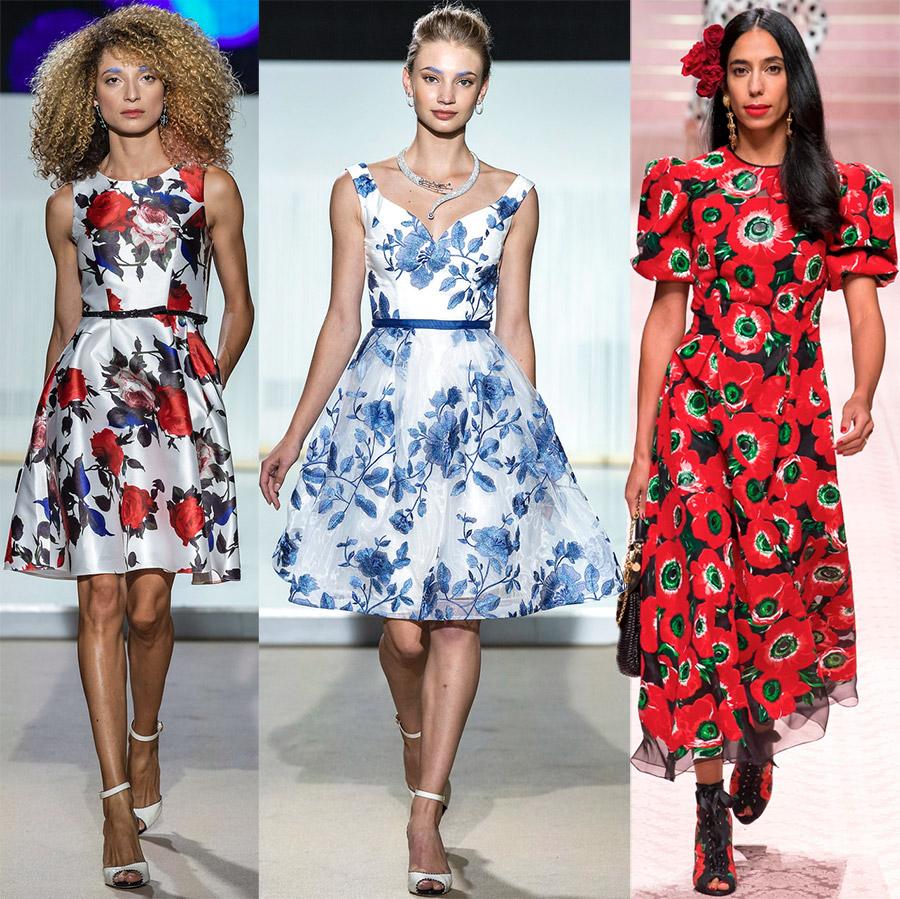Модные платья в цветочек
