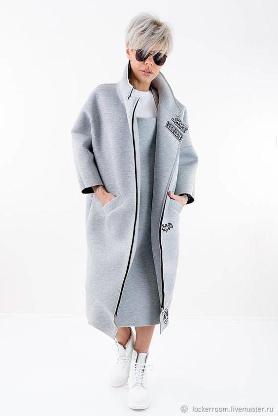 Пальто из неопрена