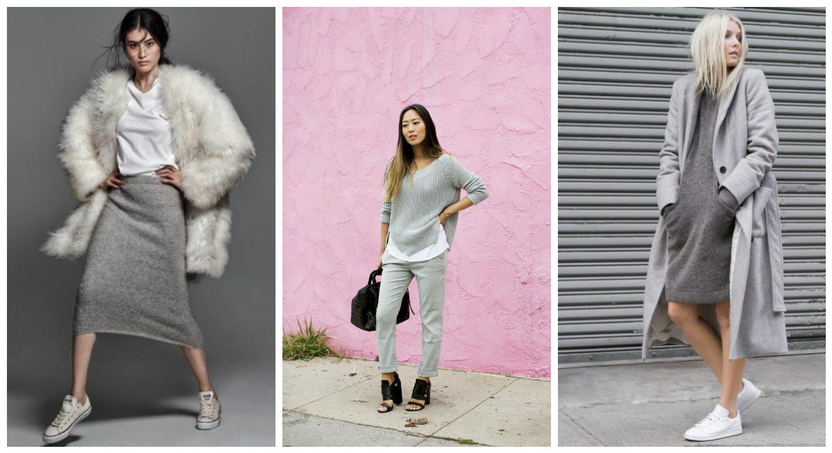 Total grey: образ, который не выйдет из моды