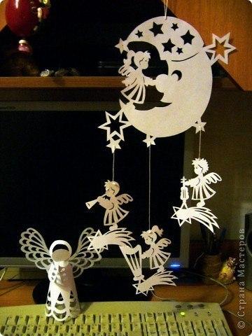Рождественская подвеска из бумаги