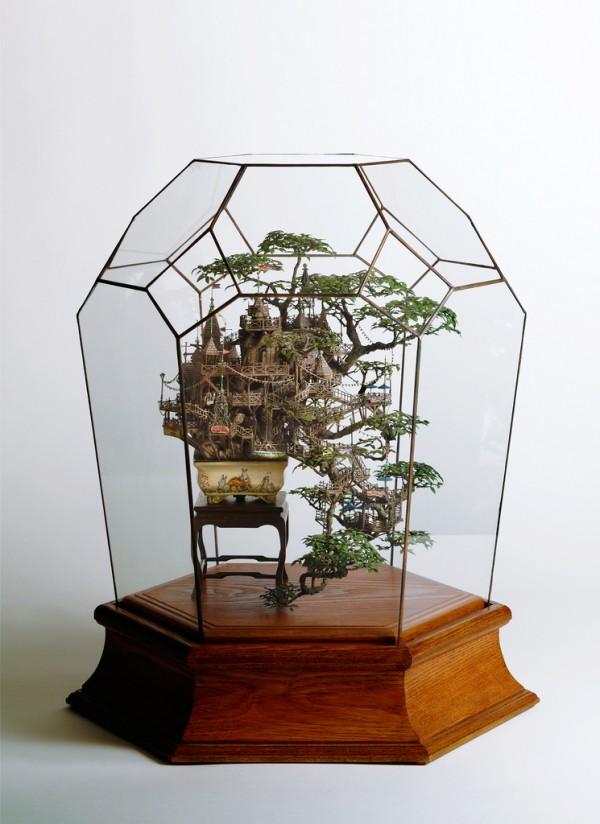 Скульптуры из бонсай деревье…