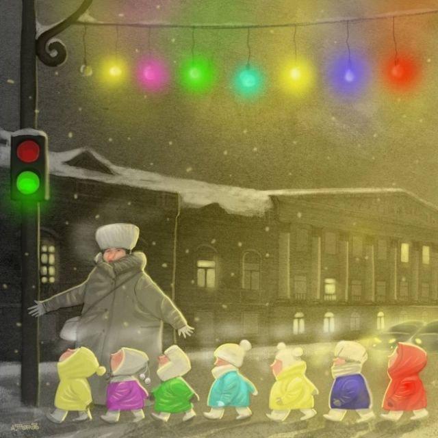 Философские карикатуры петербуржского художника Андрея Попова