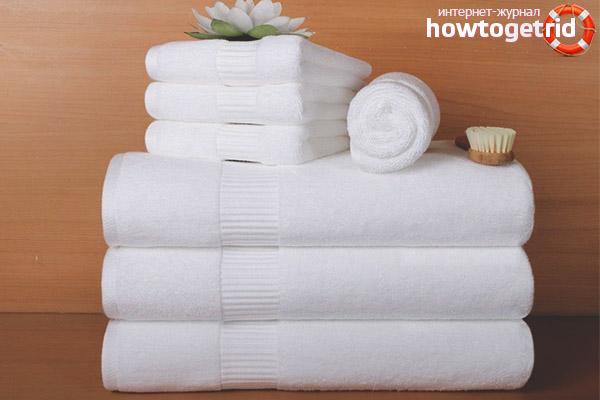 Как освежить белые кухонные полотенца