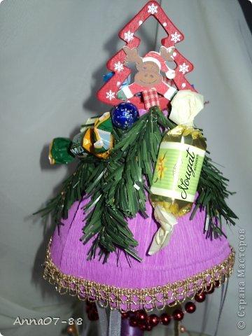 Мастер-класс Новый год Новогодняя карусель Бумага гофрированная Бутылки пластиковые Клей фото 2
