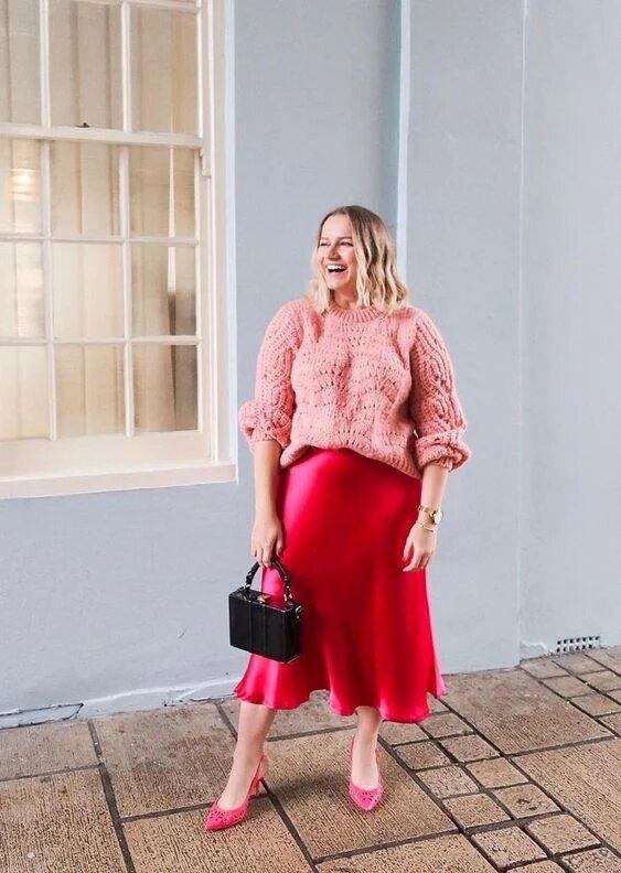 18 идей, как носить атласную юбку