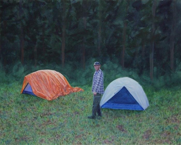 Палаточный лагерь в лесу. Автор: Tim Gardner.