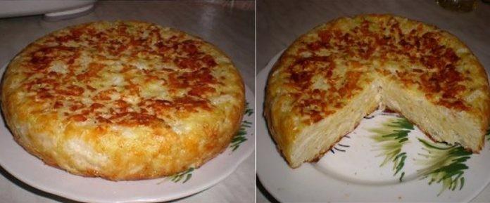 Для любителей вкусной и быстрой выпечки — Пирог «Шарлотка с капустой»