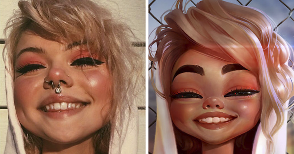 I Turned 26 People Into Disney-Like Cartoon Characters