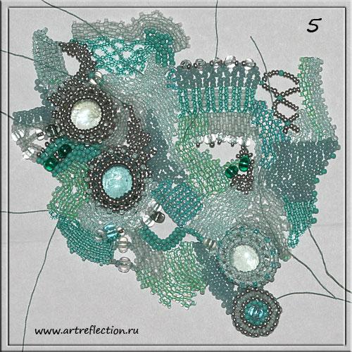 Плетение украшения (колье) в стиле фриформ (freeform). Мастер-класс.