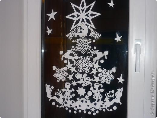Скачать вырезку на окна на новый год